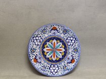 Plate 25 cm Persian Palmette decor, Ceramic hand painted wall plate