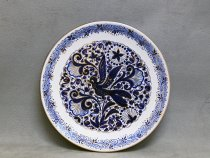 Ceramic Plate blue and gold