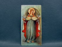 Madonna painted on majolica
