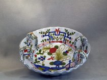 Hand painted Centerpiece in ceramic of Faenza