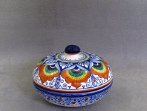 Faenza ceramic jewelry box hand-painted