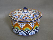 Ceramic hand painted large box