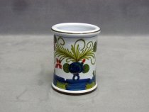 hand painted ceramic pen holder, Garofano Faenza