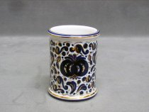 Hand painted ceramic pen holder