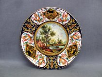 Ceramic plate hand painted in Faenza