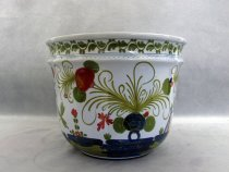 Hand-painted ceramic planter, Faenza