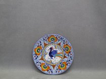 Hand painted ceramic plate by Faenza