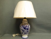 Pottery Lamp 100% Made in Faenza, hand painted in traditional style
