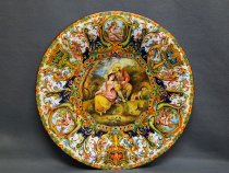 ornamental plate with romantic scene