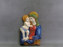 Madonna with Child 25 cm, Faenza ceramic tile