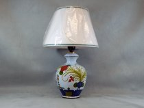 Table Lamp in hand-painted ceramic of Faenza, traditional style Garofano (Carnation)