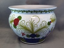 "Planter in ceramics of Faenza, hand decorated in traditional stile ""pomegranate"""