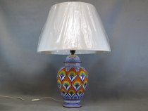 Hand Decorated Table Lamp, artistic ceramics of Faenza