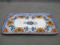 Faience desk tray made in Faenza, Italy