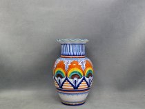 Vase peahen 22 cm, artistic pottery of Faenza