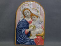 "Ceramic panel ""Madonna of the Grape"", Majolica of Faenza"