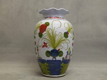 Majolica Vase for large bunches of flowers