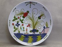 Large bowl decorated with carnations, ceramic from Faenza