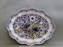 Melograno centerpiece 43 x 33 cm | Hand Decorated Italian Majolica of Faenza