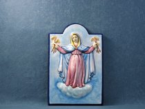 Our Lady of Graces of Faenza 30x20 cm, Faenza majolica panel