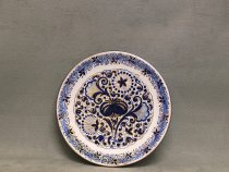 Plate with Melograno decoration and pomegranate in the center, La Vecchia Faenza ceramics