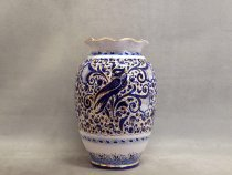 Artistic ceramic vase 30 cm - Melograno with Swallow decoration