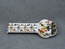 Garofano ceramic ladle holder or spoon holder