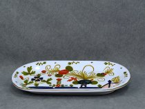 Multi-purpose tray Garofano, Faenza majolica