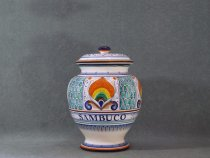 elderberry apothecary jar - italian ceramics of Faenza