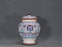 Apothecary jar for eucalyptus - italian ceramics