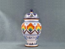 Angelica Apothecary jar, italian ceramic made in Faenza