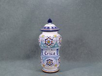 Erica Apothecary jar 28.5 cm - italian pottery made in Faenza