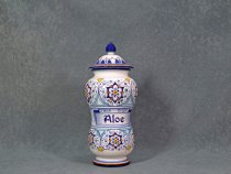 Italian Ceramic Apothecary jar for Aloe