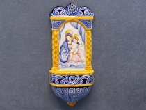 "Ceramic holy water stoup ""Madonna and Child"""