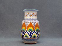 straight shape ceramic vase, 30 cm, italian ceramics