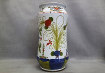 Ceramic umbrella stand painted by hand