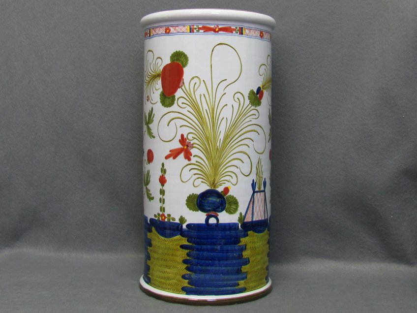 Umbrella stand in ceramic from Faenza