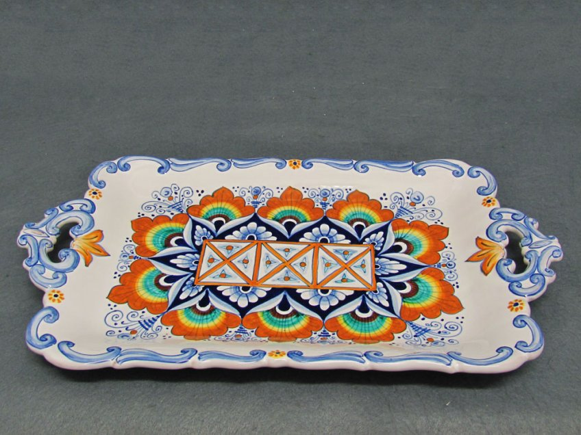 Ceramic hand painted tray from Faenza