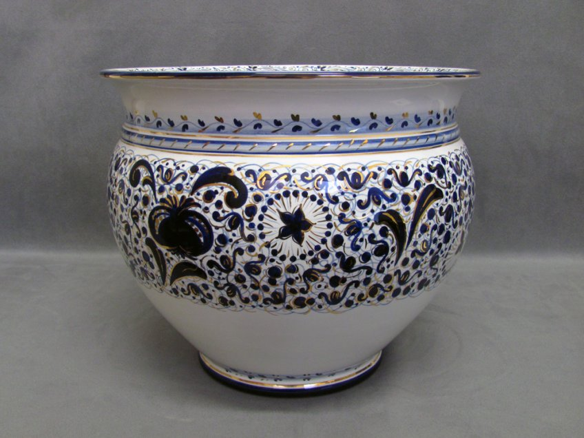 Pomegranate decoration vase, ceramic from Faenza