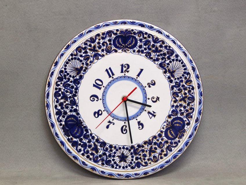 Ceramic Wall clock 31 cm Melograno decoration